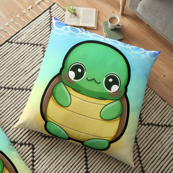 Large Baby Turtle Floor Pillow
