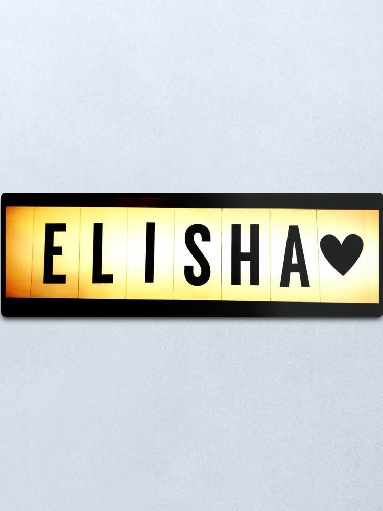 Alternate view of Elisha mask, Elisha magnet, Elisha sticker, Elisha greeting card  Metal Print