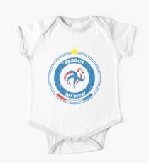 World Cup Football 7/8 - Team France (distressed) One Piece - Short Sleeve