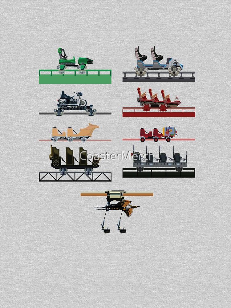 Islands of Universal Coaster Cars Design by CoasterMerch