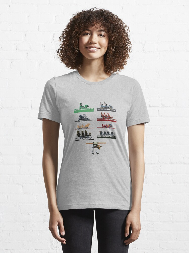 Alternate view of Islands of Universal Coaster Cars Design Essential T-Shirt