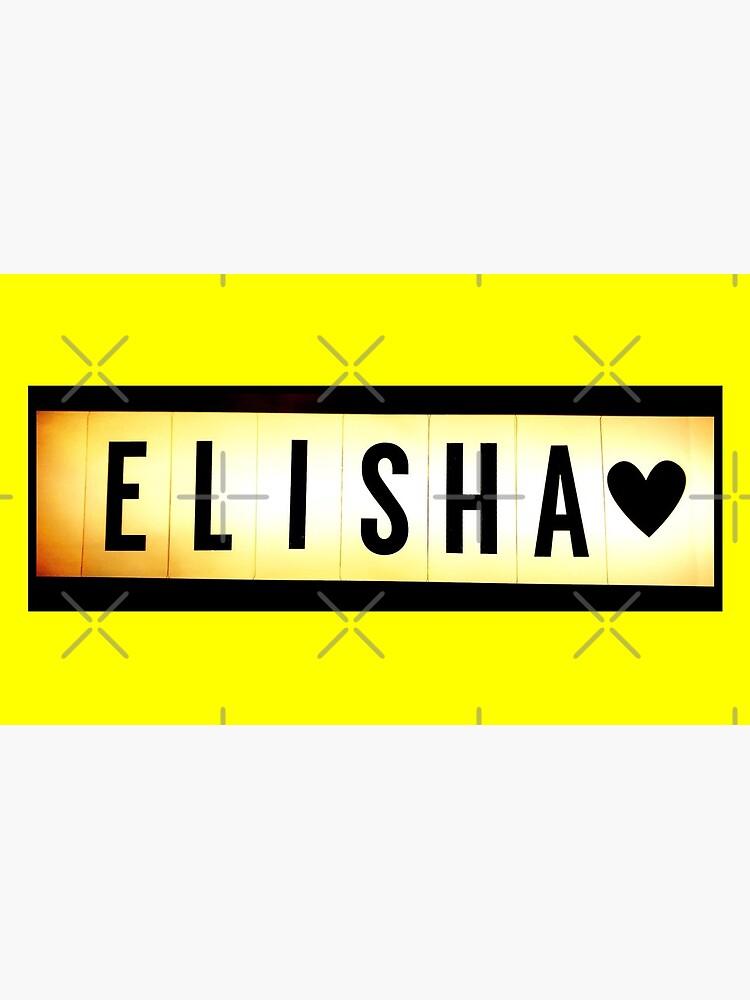 Elisha mask, Elisha magnet, Elisha sticker, Elisha greeting card  by PicsByMi