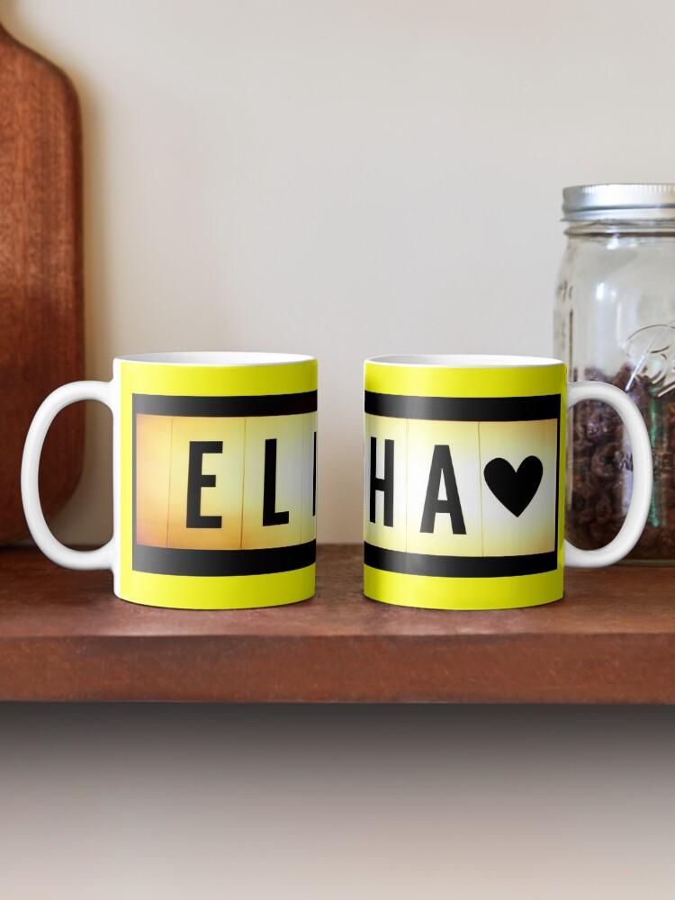 Alternate view of Elisha mask, Elisha magnet, Elisha sticker, Elisha greeting card  Mug