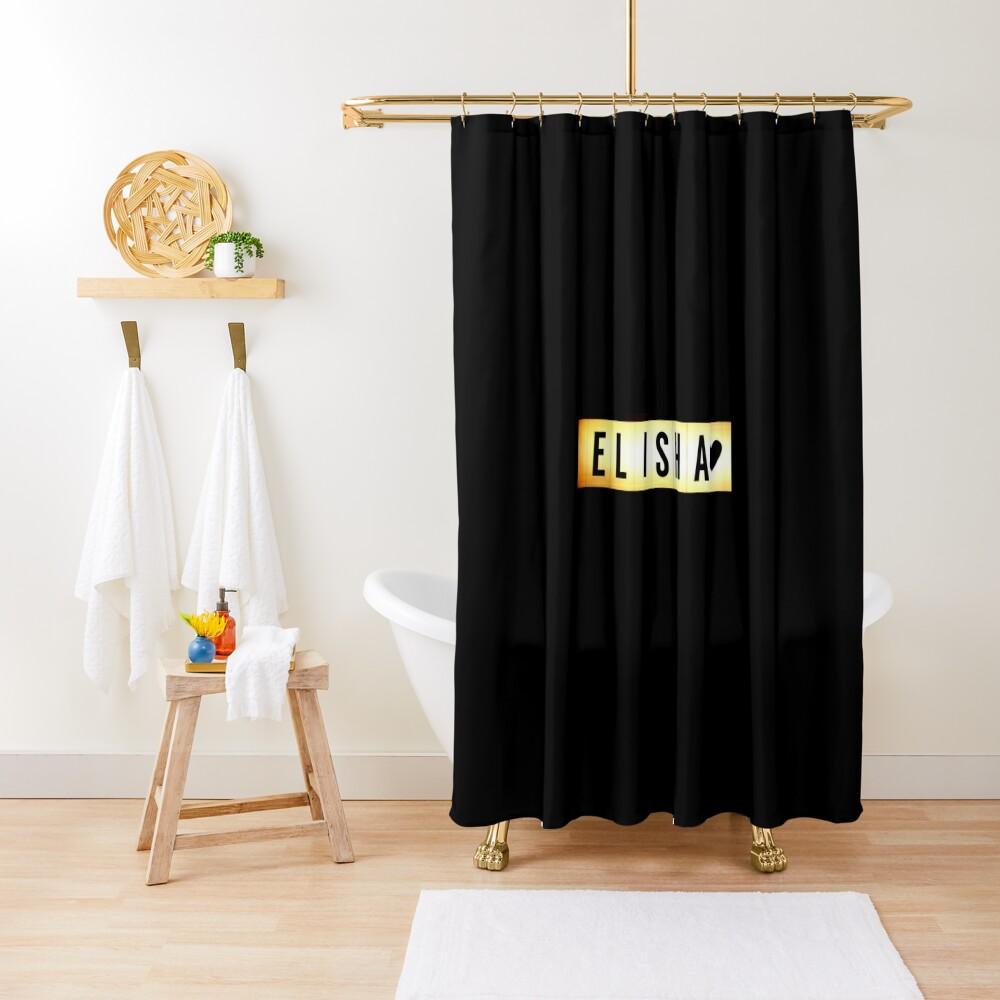 Elisha mask, Elisha magnet, Elisha sticker, Elisha greeting card  Shower Curtain