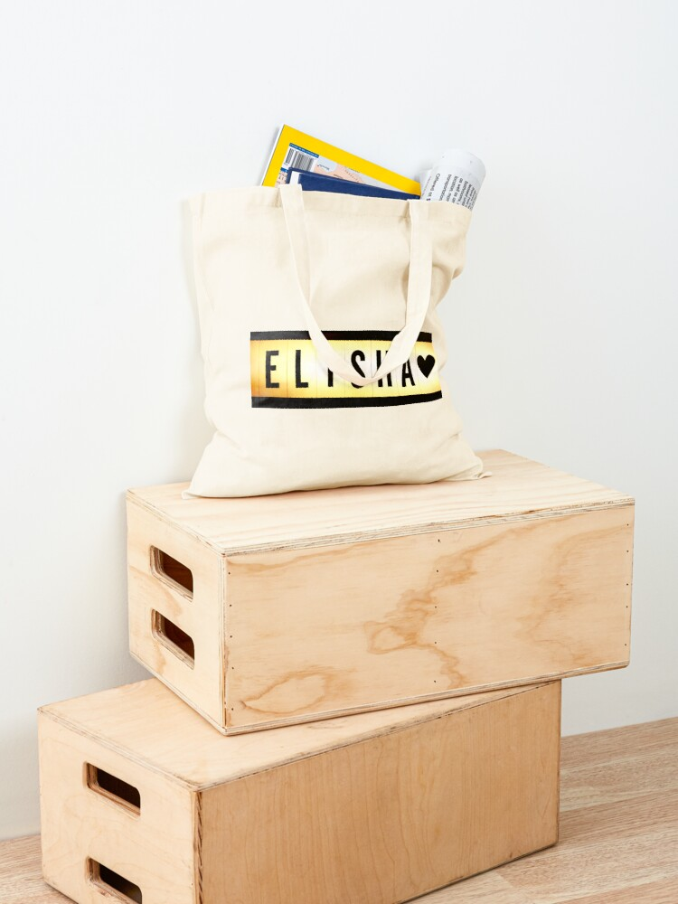 Alternate view of Elisha mask, Elisha magnet, Elisha sticker, Elisha greeting card  Tote Bag