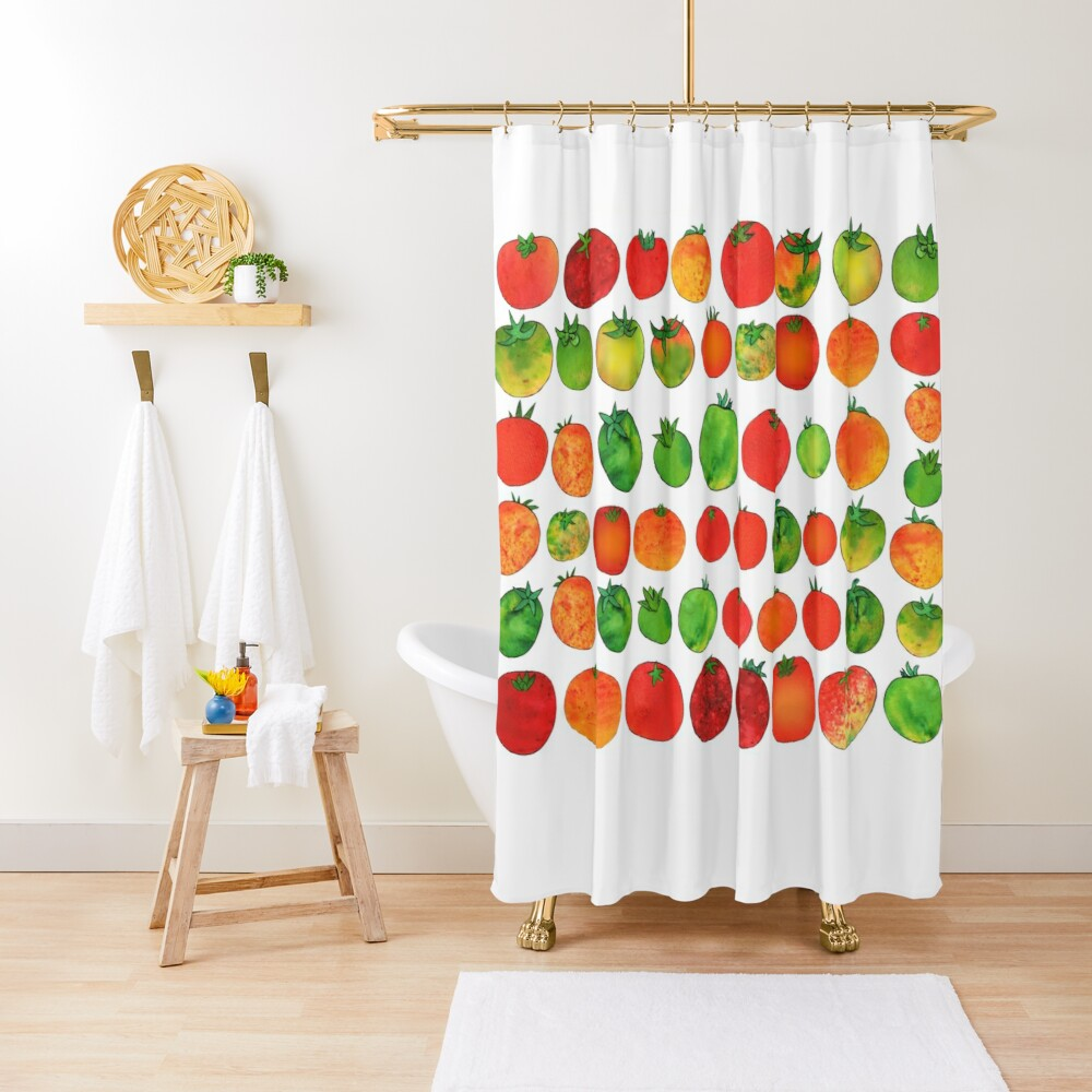 Enchanted Tomatoes Shower Curtain
