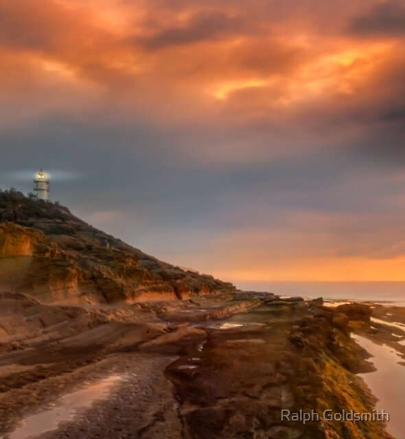 Sunrise at Cabo de las Huertas Lighthouse by Ralph Goldsmith