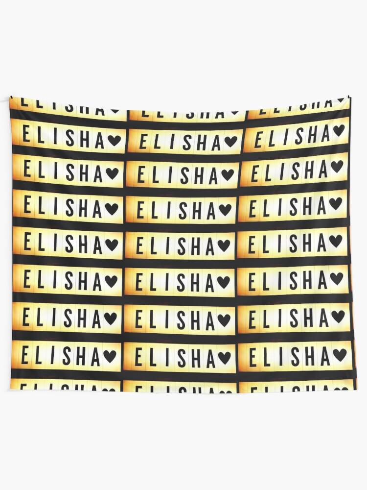 Alternate view of Elisha mask, Elisha magnet, Elisha sticker, Elisha greeting card  Tapestry