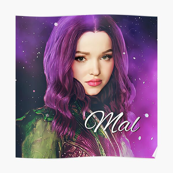Mal Purple Pink Princess - Descendants 3  Poster