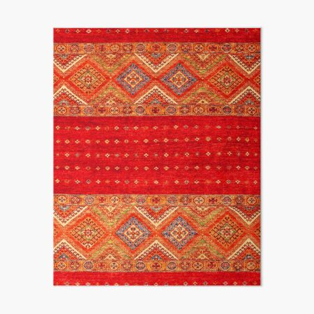 Orange Heritage Traditional Bohemian Moroccan Style Art Board Print