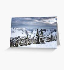 Snow covered Winnats Pass, Peak District, UK Greeting Card