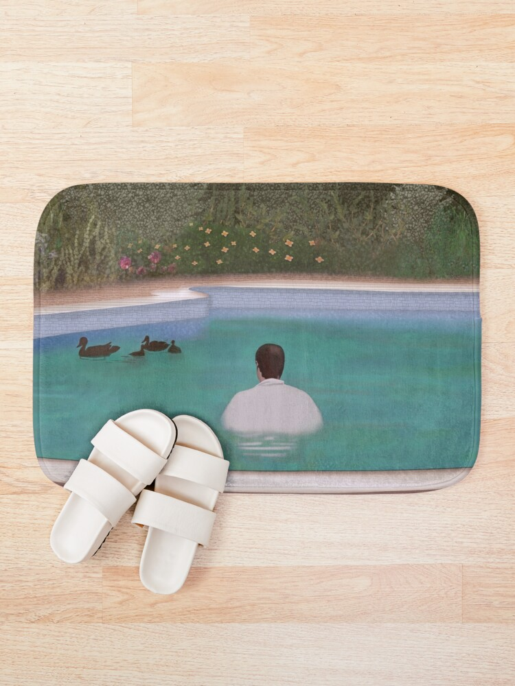 Alternate view of Him, with those ducks.. Bath Mat