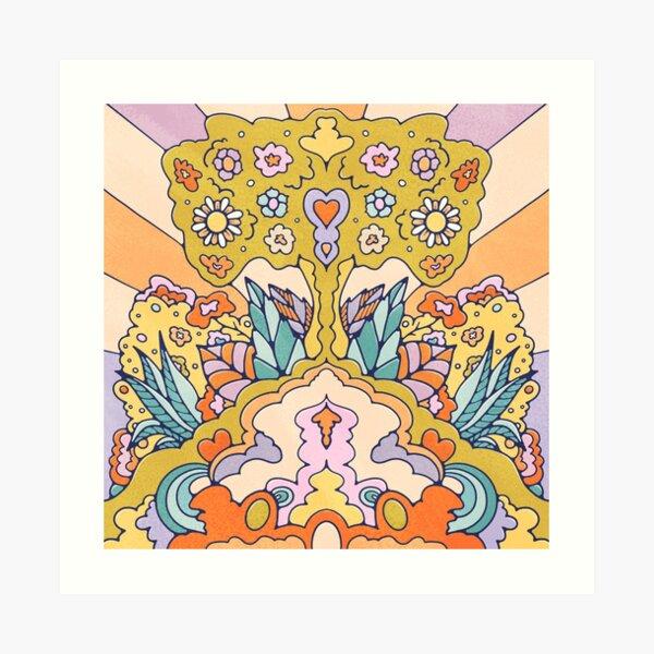 Sacred Hippie Tree Art Print