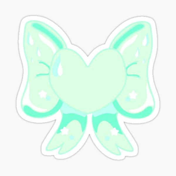 Green Heart Ribbon Sticker