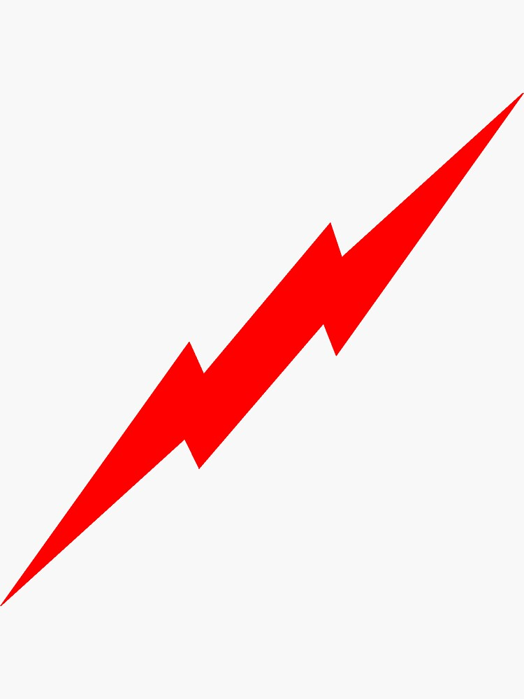 Red Lightning Bolt by kerchow