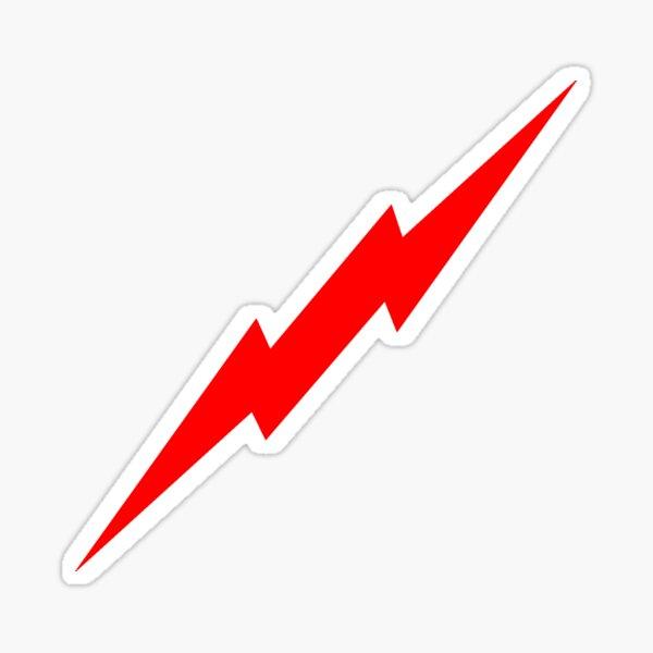 Red Lightning Bolt Sticker