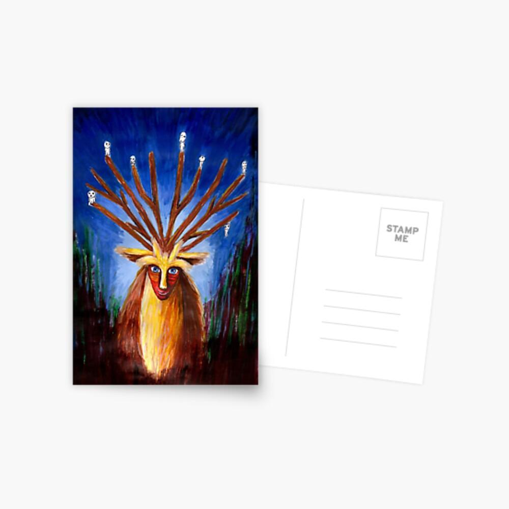 Dieux Cerf (Prinzessin Mononoke) Postkarte