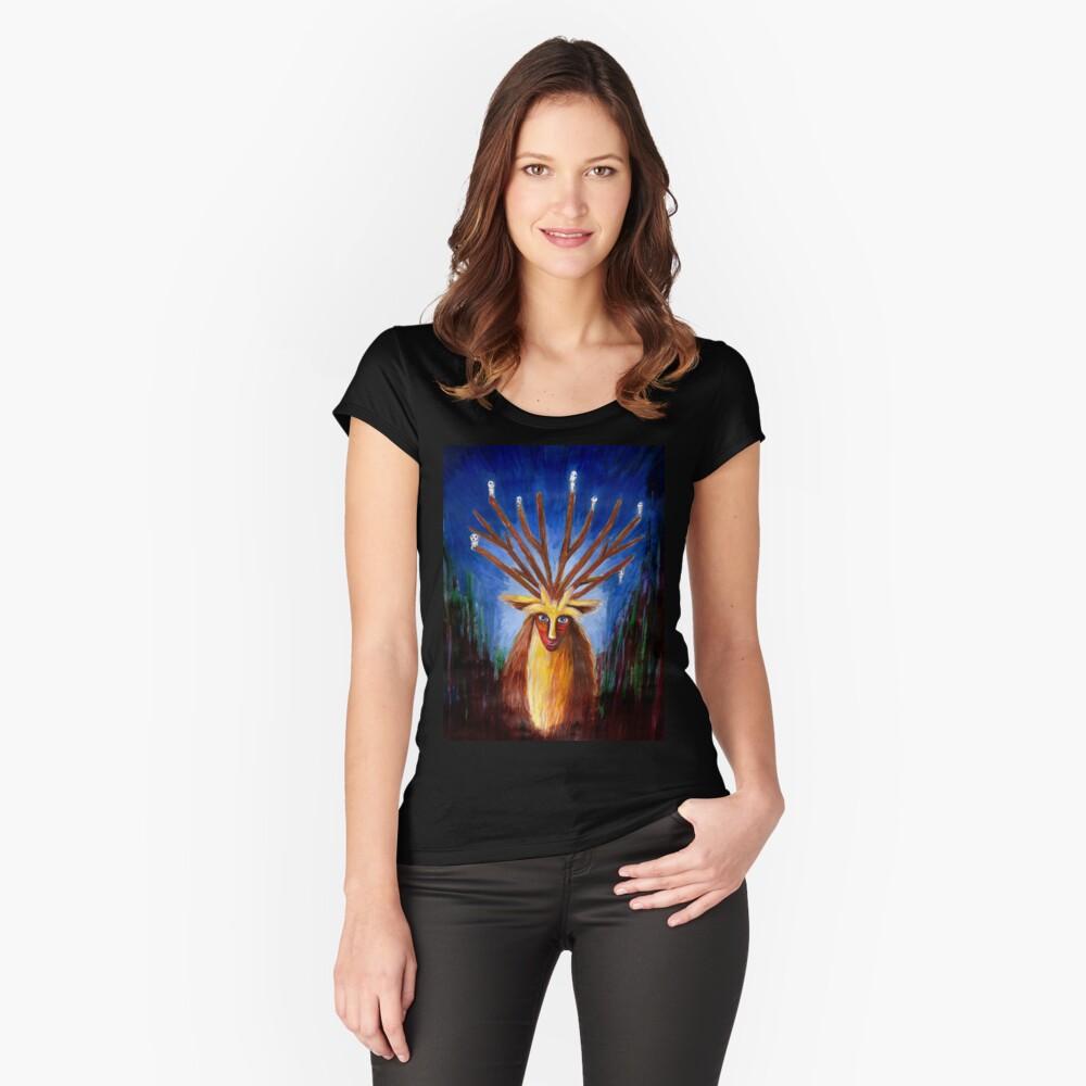 Dieux Cerf (Prinzessin Mononoke) Tailliertes Rundhals-Shirt