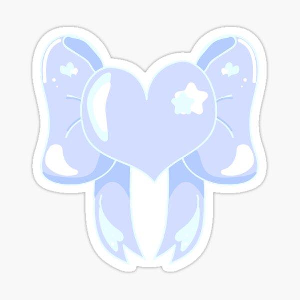 Blue Heart Ribbon Sticker