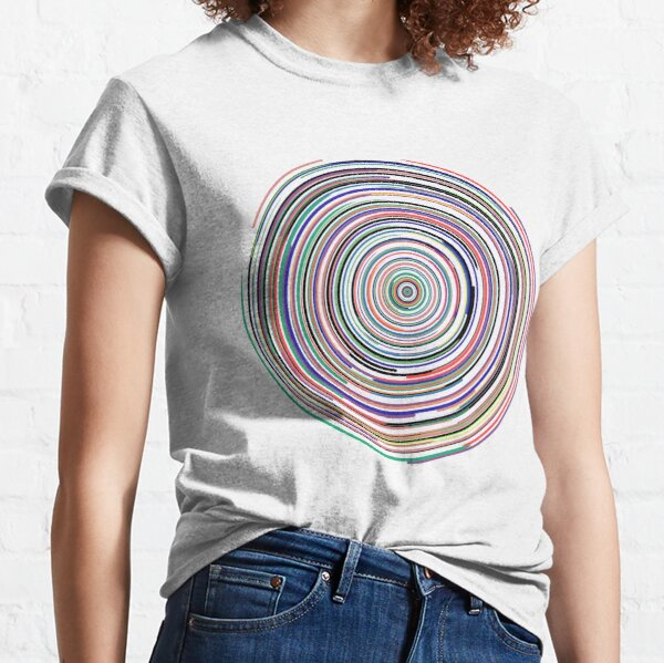 Colorful Spirograph Mandala Classic T-Shirt