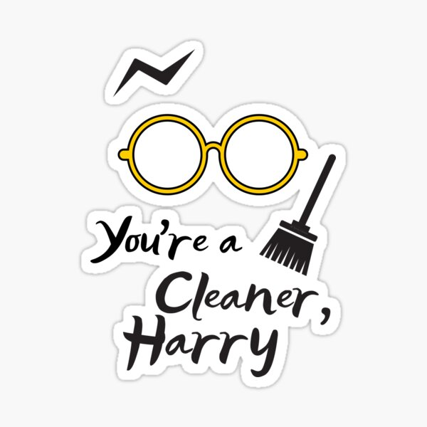You're a Cleaner Harry Funny Cleaning Lady Gift Housekeeping Fun Sticker
