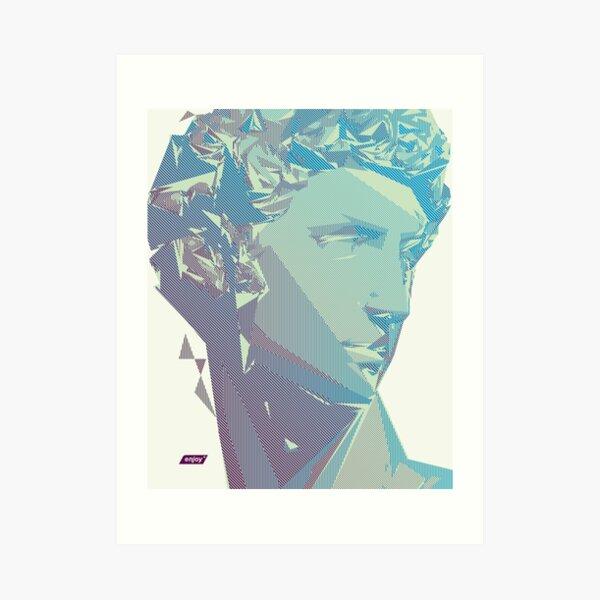 Giuliano Scanline Portrait | Day Time Art Print