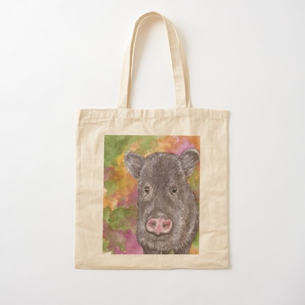 Javelina, Sonoran Desert Cotton Tote Bag