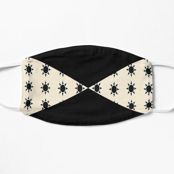Black Diamond Pattern on Ivory Background Mask