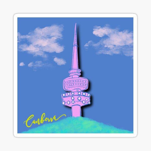 Canberra Telstra Tower - paper cut brights Sticker