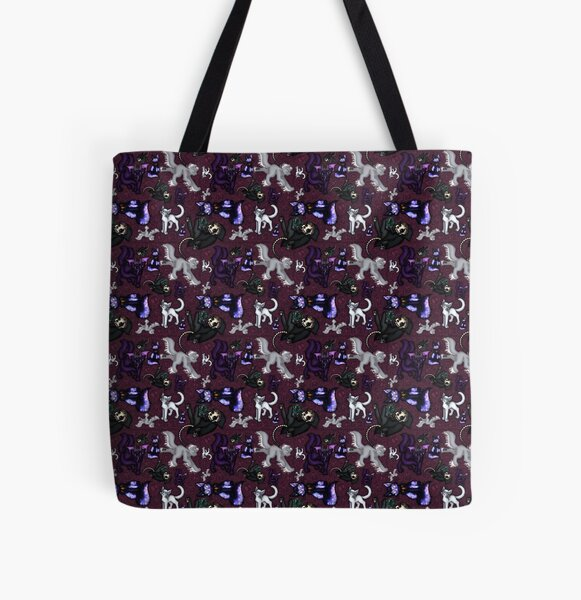Spooky Cats All Over Print Tote Bag