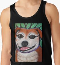 Gracie May Staffy Dog under the lime tree Tank Top