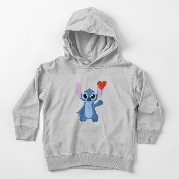 Stitch Cartoon bring heart-shaped balloons Toddler Pullover Hoodie