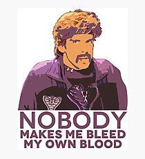 Niemand lässt mich mein eigenes Blut bluten - Völkerball Fotodruck