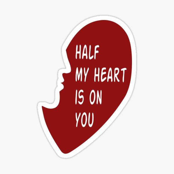 Pas des cœurs chromés mais un demi-cœur Sticker