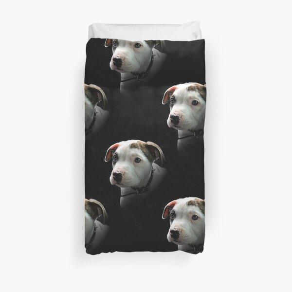 Pit Bull T-Bone Puppy Duvet Cover