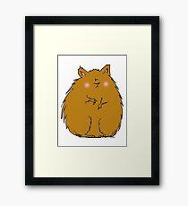Fat hamster Framed Print