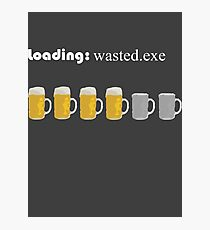 loading: wasted.exe Photographic Print