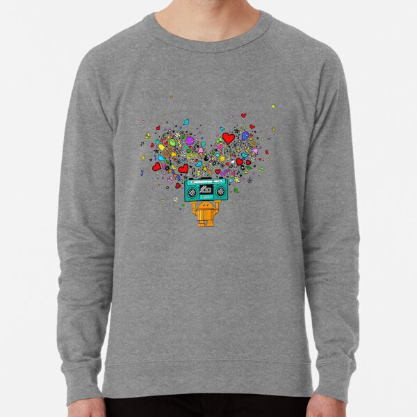 Say Anything Boombox Bot (color) Lightweight Sweatshirt