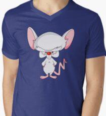 Pinky and The Brain - Brain Men's V-Neck T-Shirt