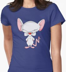 Pinky and The Brain - Brain Womens Fitted T-Shirt