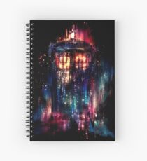 tardis dr who paint  Spiral Notebook
