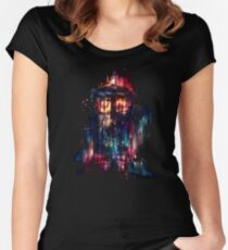 tardis dr who paint  Women's Fitted Scoop T-Shirt