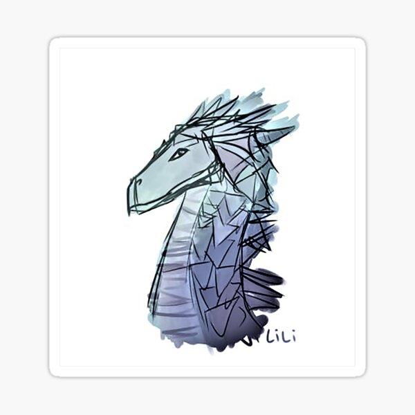 Dragon Bust Sketch Sticker