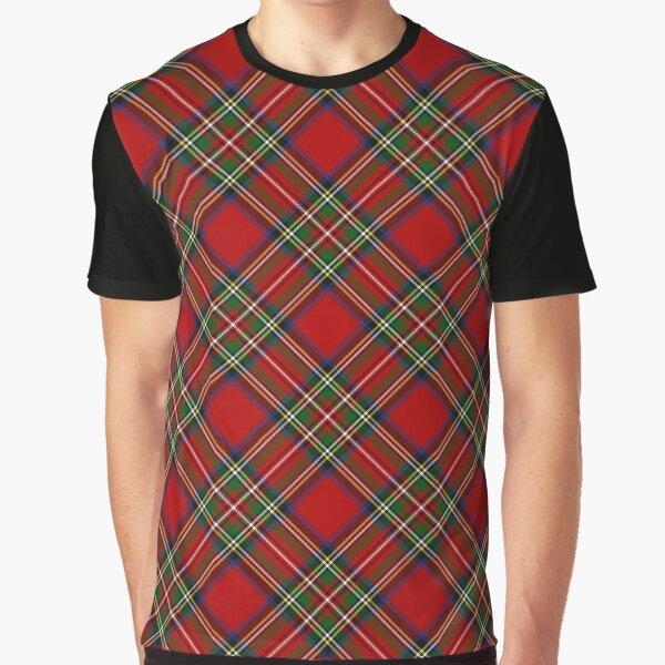 Royal Stewart Tartan Cross Plaid Graphic T-Shirt