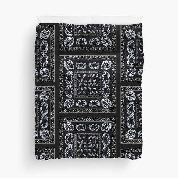 Black Square pattern bandanna style 112820 Duvet Cover