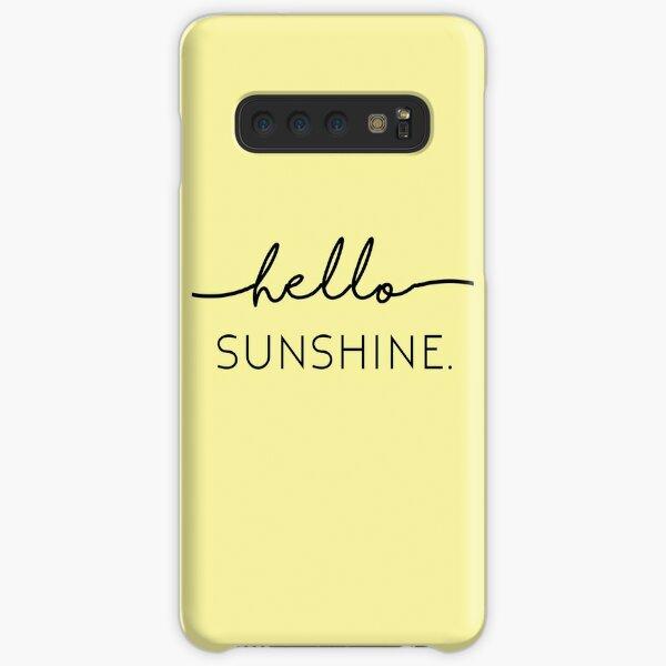 Hola sol en amarillo Funda rígida para Samsung Galaxy