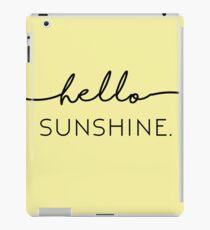 Hello Sunshine in Yellow iPad Case/Skin