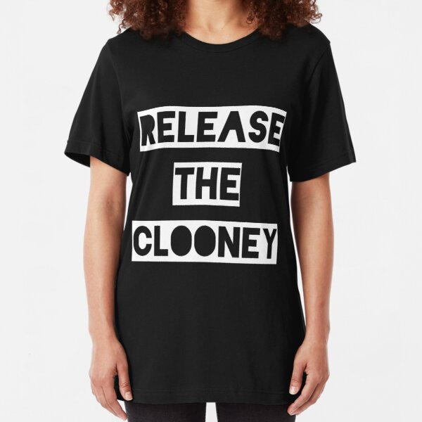 Release the Clooney (White). Slim Fit T-Shirt