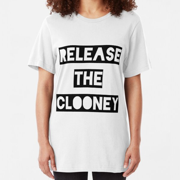 Release the Clooney (Black). Slim Fit T-Shirt