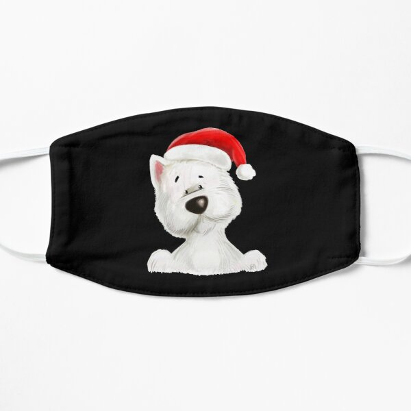 Santa Westie face Mask Mask